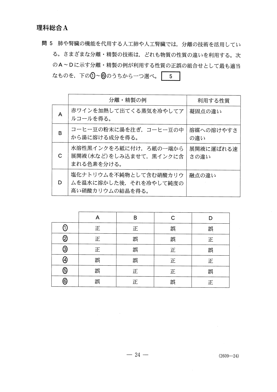 H27旧理科Ⅱ_理科総合A 大学入試センター試験過去問