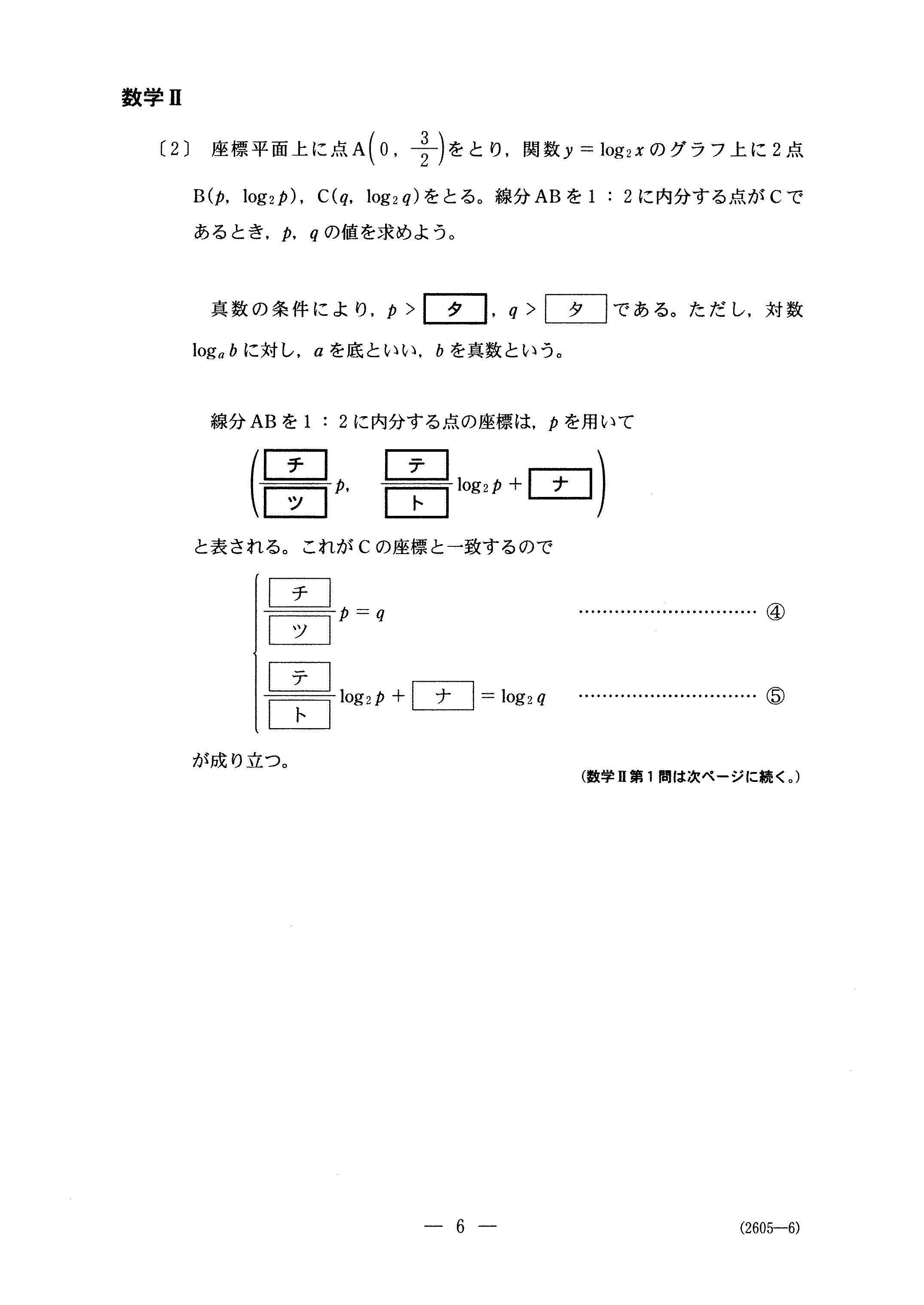H29数学_数学Ⅱ 大学入試センター試験過去問