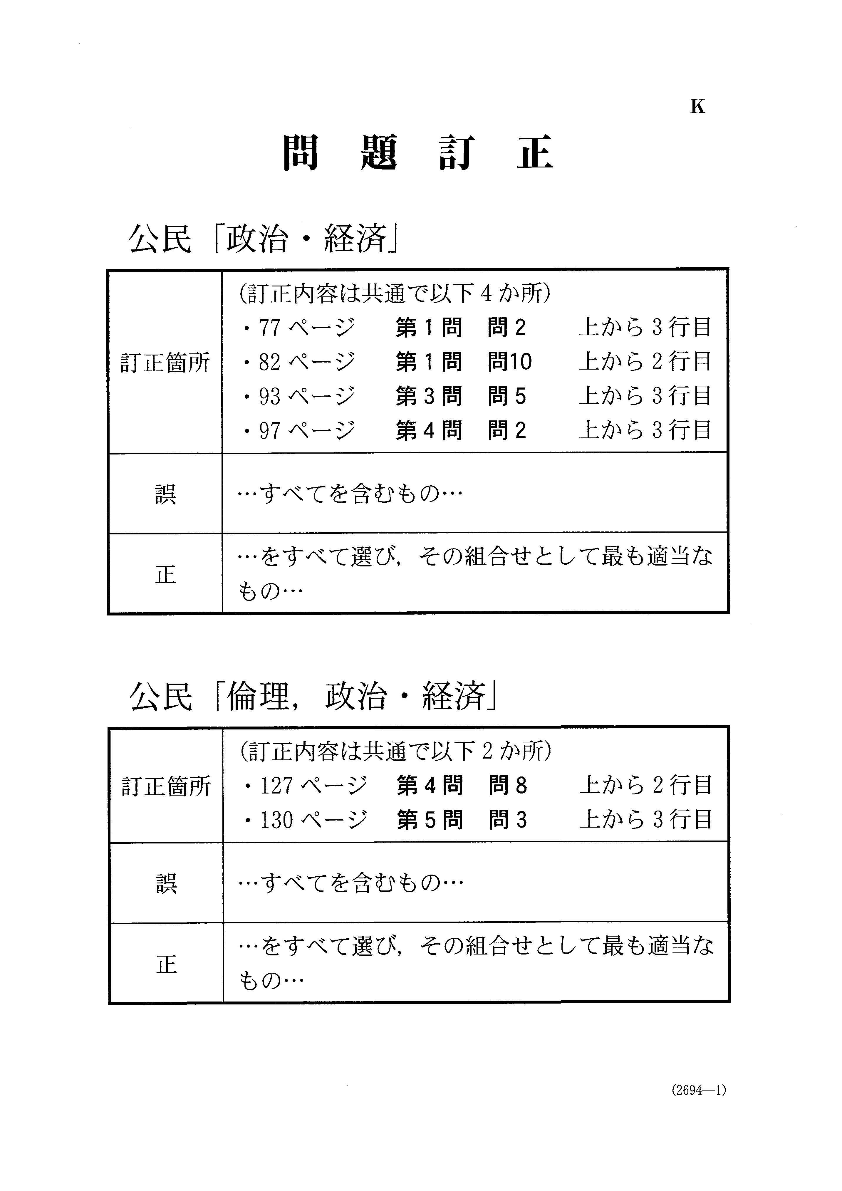 2019年 平成31年,令和元年 倫理,政治・経済 大学入試センター試験過去問