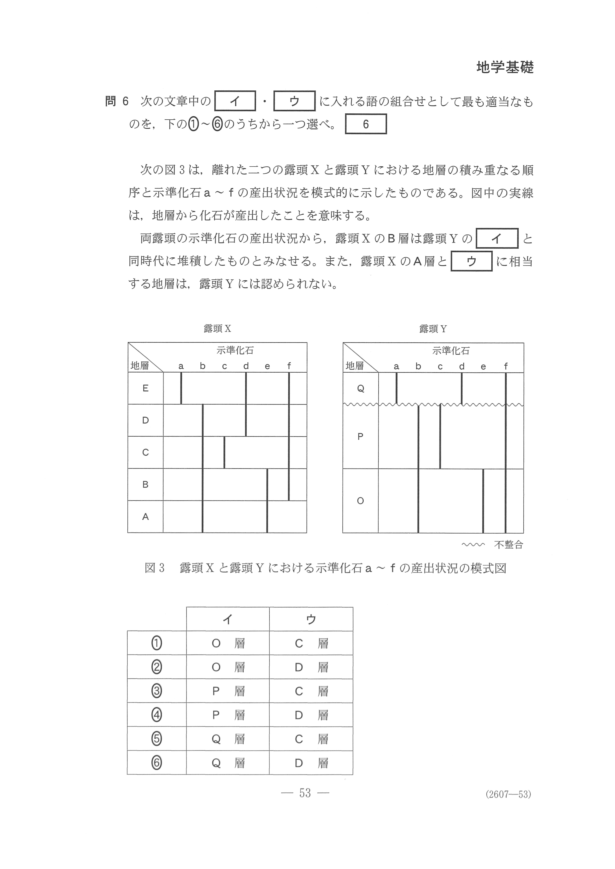 2019年 平成31年,令和元年 理科Ⅰ|地学基礎 大学入試センター試験過去問